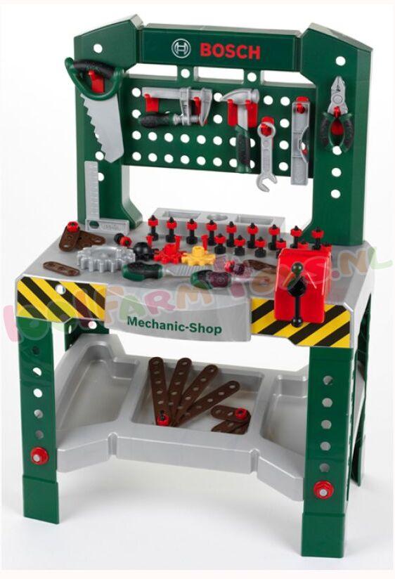 bosch kinder werkbank met toebehoren kl8574 kinder gereedschap 1001farmtoys. Black Bedroom Furniture Sets. Home Design Ideas