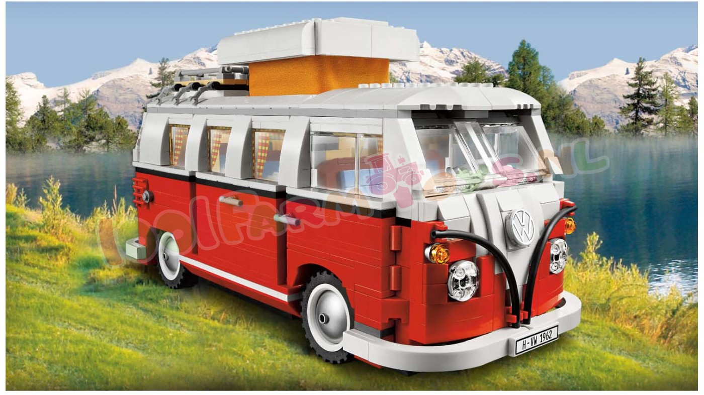 lego creator vw t1 camper 10220 lego creator lego 1001farmtoys landbouwspeelgoed dit. Black Bedroom Furniture Sets. Home Design Ideas