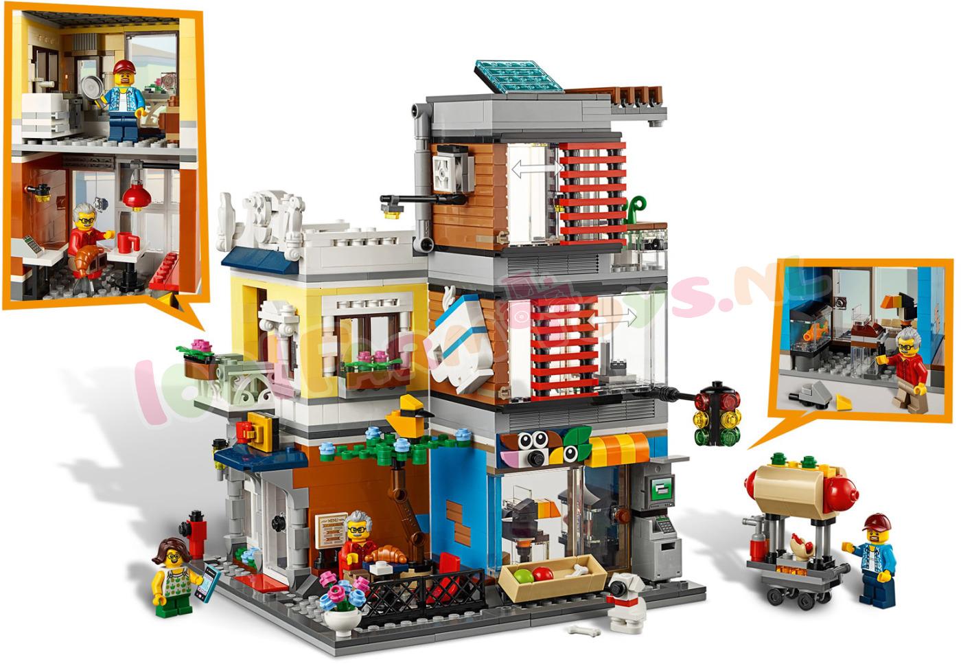 Verbazingwekkend LEGO CREATOR Woonhuis dierenwinkel & ca - 31097 - LEGO Creator KS-16