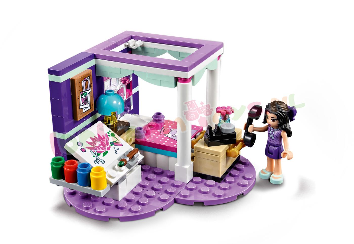 Luxe Paarse Slaapkamer : Lego friends emmas luxe slaapkamer lego friends lego