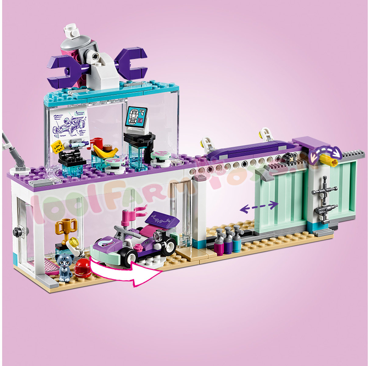 LEGO FRIENDS CREATIEVE TUNINGSHOP - 41351 - Uitverkocht ...