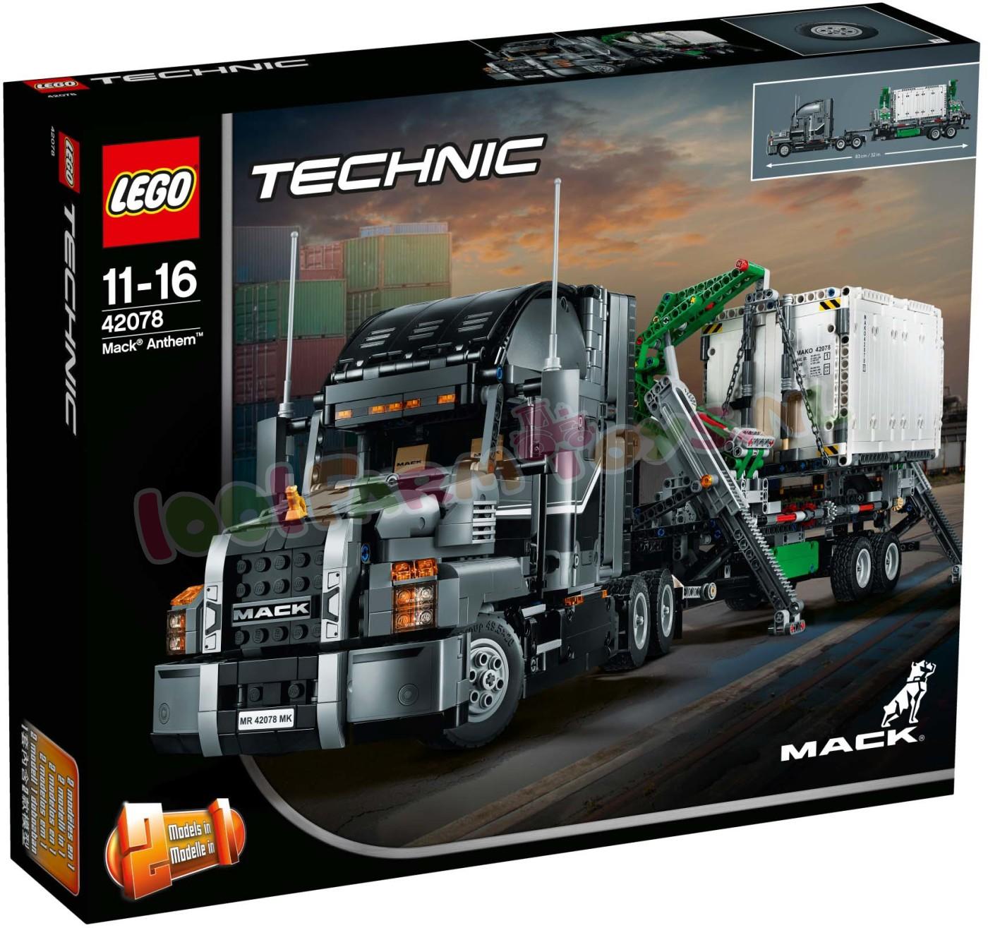 Uitgelezene LEGO TECHNIC MACK ANTHEM VRACHTWAGEN - 42078 - LEGO Technic - LEGO VP-32
