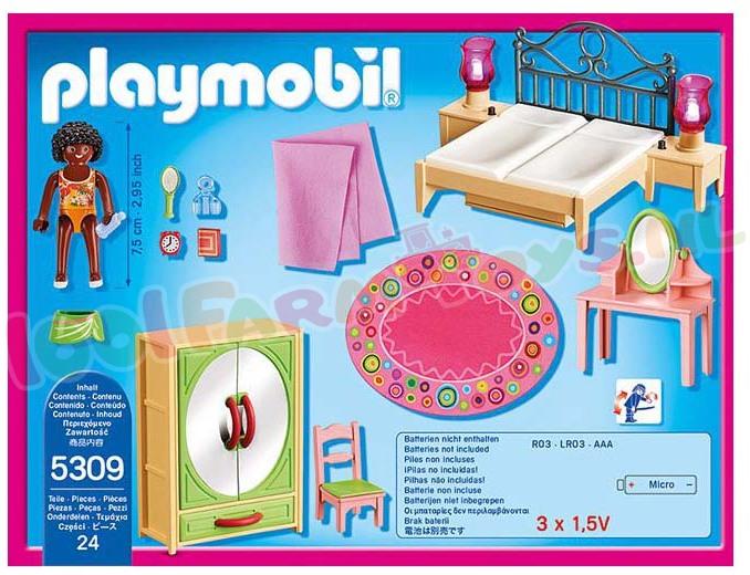 PLAYMOBIL SLAAPKAMER MET KAPTAFEL - 5309 - Playmobil Dollhouse ...