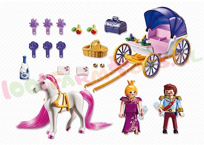 Playmobil koninklijk koets met paard 6856 playmobil for Carrosse princesse playmobil