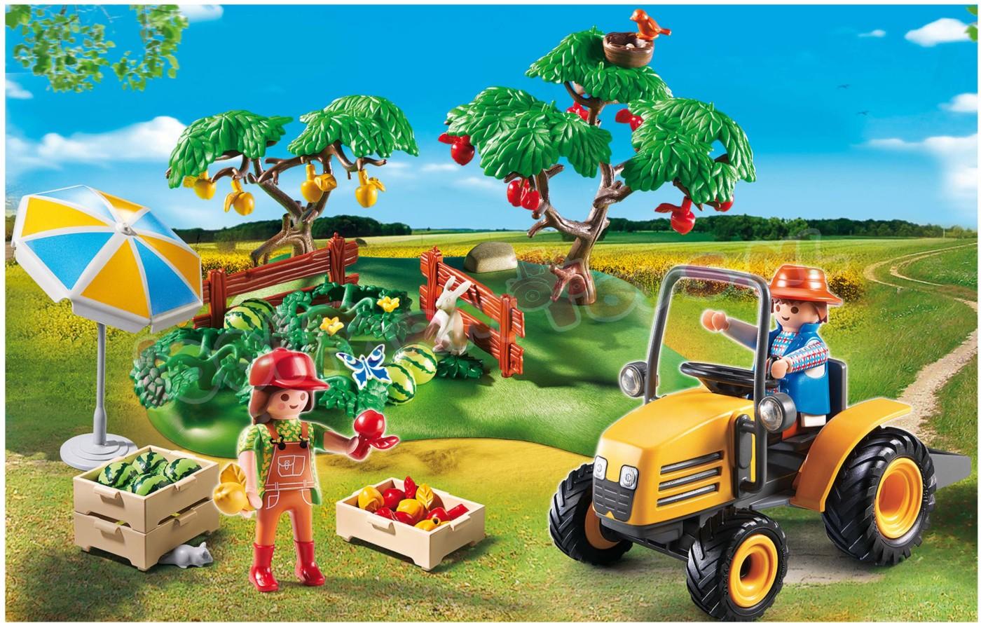 Playmobil starterset boomgaarden 6870 uitverkocht farm - Betonniere playmobil ...