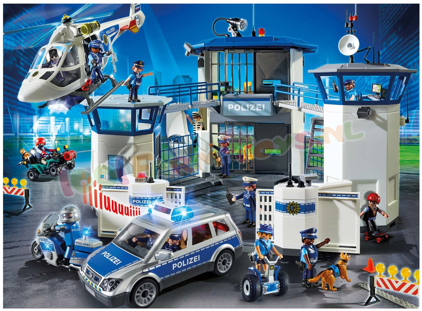 playmobil politie bureau actie in 1 set 6919set. Black Bedroom Furniture Sets. Home Design Ideas