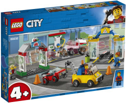 LEGO AutoGarage. Sleepdienst & Wasstraat