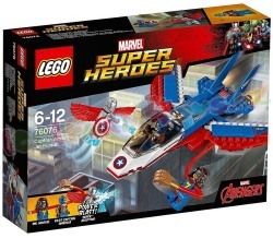 LEGO HEROES CAPTAIN AMERICA JET ACHTER-