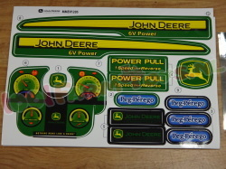 STICKERSET JD POWER PULL 6V TRACTOR