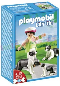 PLAYMOBIL BOARDER COLLIE FAMILIE