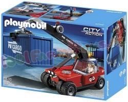 PLAYMOBIL HEFTRUCK MET CONTAINER