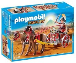 PLAYMOBIL ROMEINSE STRIJDWAGEN + TRIBUNE