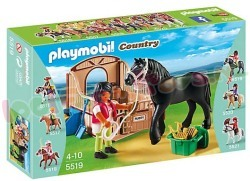 PLAYMOBIL FRIES PAARD MET PAARDENBOX