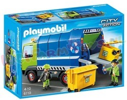 PLAYMOBIL VUILNISWAGEN INCL. 2 CONTAINER