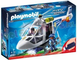 PLAYMOBIL POLITIEHELIKOPTER+LED ZAKLAMP