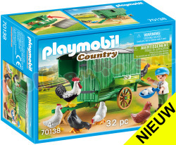 PLAYMOBIL Kind met kippenhok