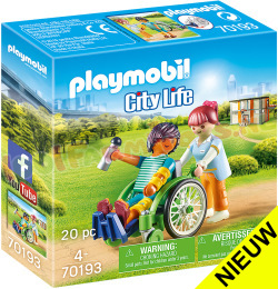 PLAYMOBIL Patient in rolstoel