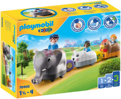 PLAYMOBIL 1.2.3 Dierentrein