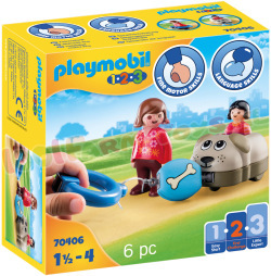 PLAYMOBIL 1.2.3 Hondentrein