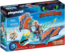 PLAYMOBIL Dragon Racing Astrid+Storm-