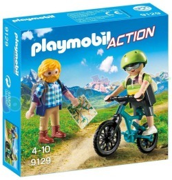 PLAYMOBIL WANDELAAR EN MOUNTAINBIKER
