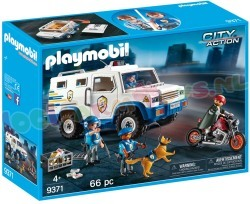 PLAYMOBIL GELDTRANSPORT VOERTUIG + MOTOR