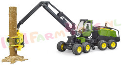 BRUDER JD 1270g Tree harvester +boomstam