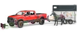 RAM POWER WAGON + PAARDENTRAILER 1/16