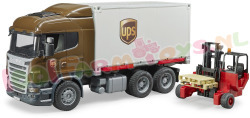 SCANIA UPS CONTAINER + HEFTRUCK 1/16