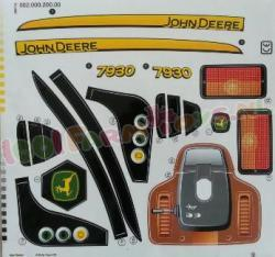STICKERSET JOHN DEERE 7930 ROLLY TOYS